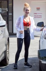 JULIANNE HOUGH Leaves a Gym in Los Angeles 07/04/2018