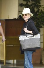 JULIANNE MOORE Leaves Her Hotel in Los Angeles 07/19/2018