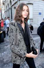 KAIA GERBER Arrives at Vogue Dinner Party in Paris 07/03/2018