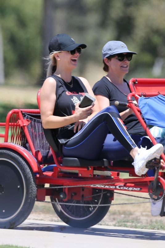 KALEY CUOCOC Riding a Trike Bike at a Park in Los Angeles 07/16/2018