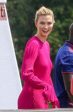 KARLIE KLOSS on the Set of a Photoshoot in Paris 07/03/2018