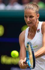 KAROLINA PLISKOVA at Wimbledon Tennis Championships in London 07/03/2018