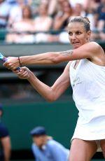 KAROLINA PLISKOVA at Wimbledon Tennis Championships in London 07/06/2018