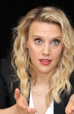 KATE MCKINNON at The Spy Who Dumped Me Press Conference in New York 07/13/2018