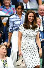 KATE MIDDLETON and MEGHAN MARKLE at Wimbledon Tennis Championships in London 07/14/2018