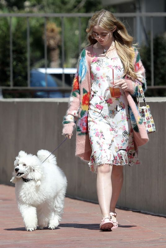 KATHRYN NEWTON Out With Her Dog in Beverly Hills 07/17/2018