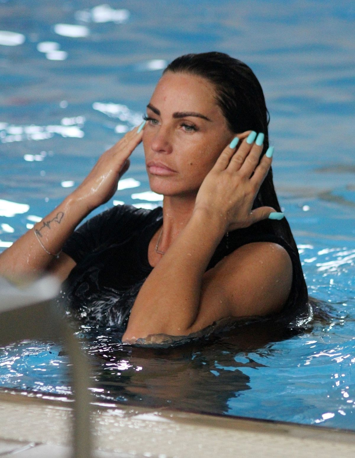 KATIE PRICE at a Local Swimming Pool 06/29/2018 – HawtCelebs