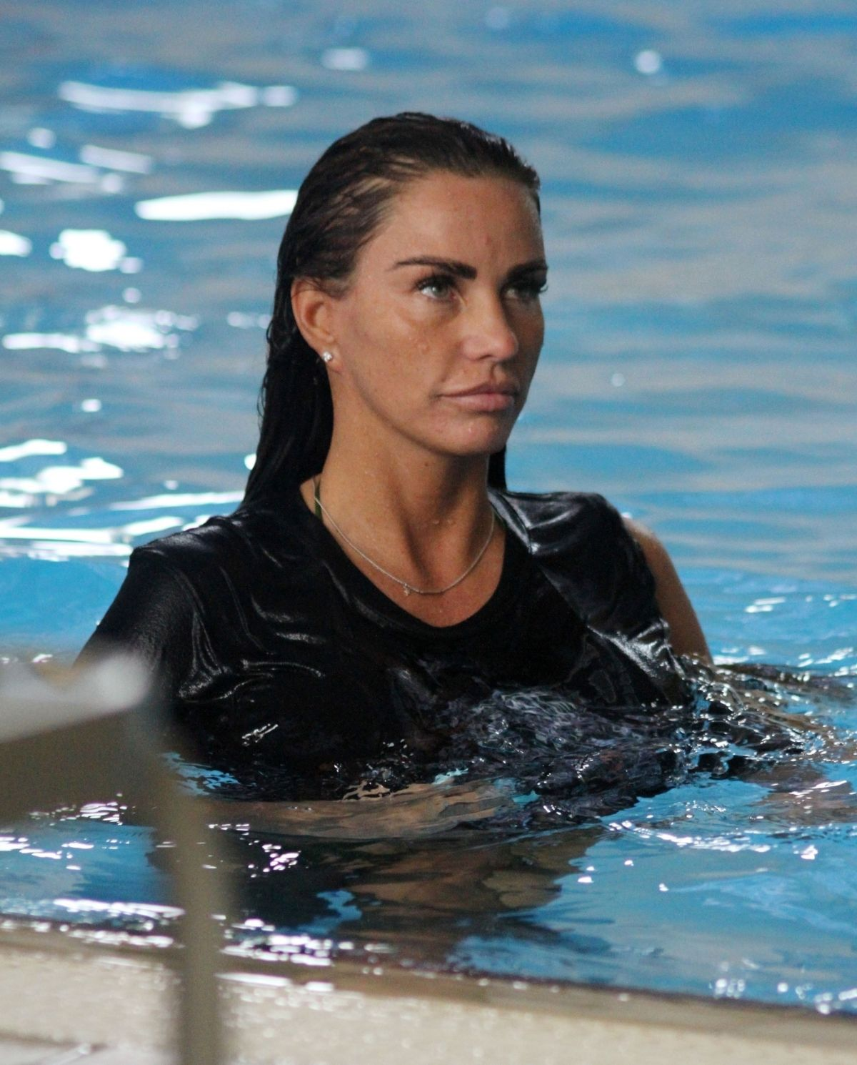 KATIE PRICE at a Local Swimming Pool 06/29/2018 - HawtCelebs