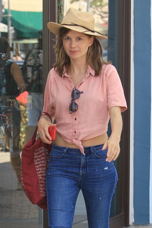 KATJA HERBERS in Jeans Out Shopping in Beverly Hills 07/26/2018