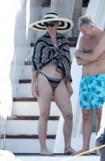 KATY PERRY in Bikini at a Yacht in Formentera 07/04/2018