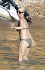 KATY PERRY in Bikini on the Beach in Ibiza 07/01/2018