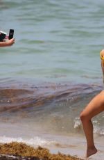 KAYLEE RICHARDS and BRITT RAFUSON in Bikinis at a Beach in Miami 07/09/2018