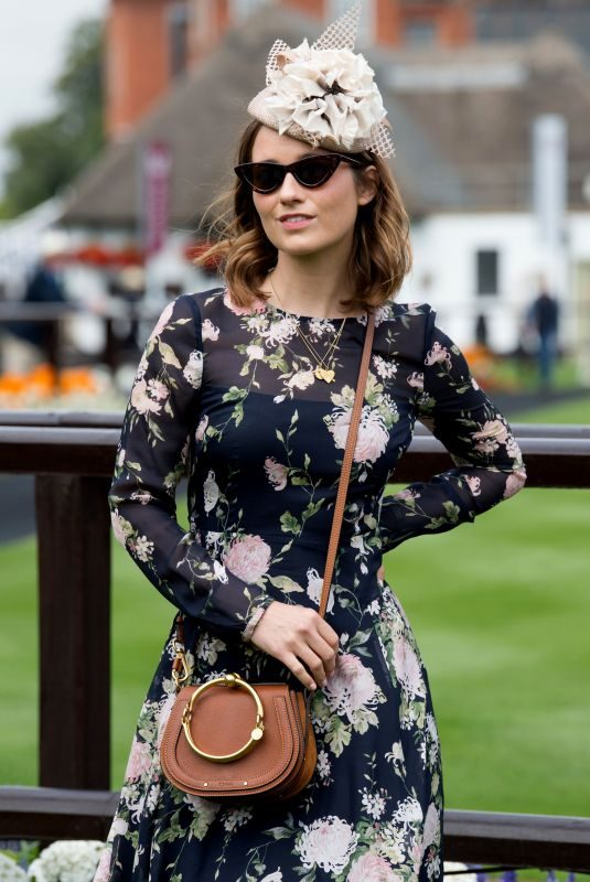 KELLY EASTWOOD at Moet & Chandon July Festival, Ladies Day at Newmarket Racecourse 07/12/2018