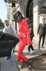 KENDALL JENNER Leaves George V Hotel in Paris 07/23/2018