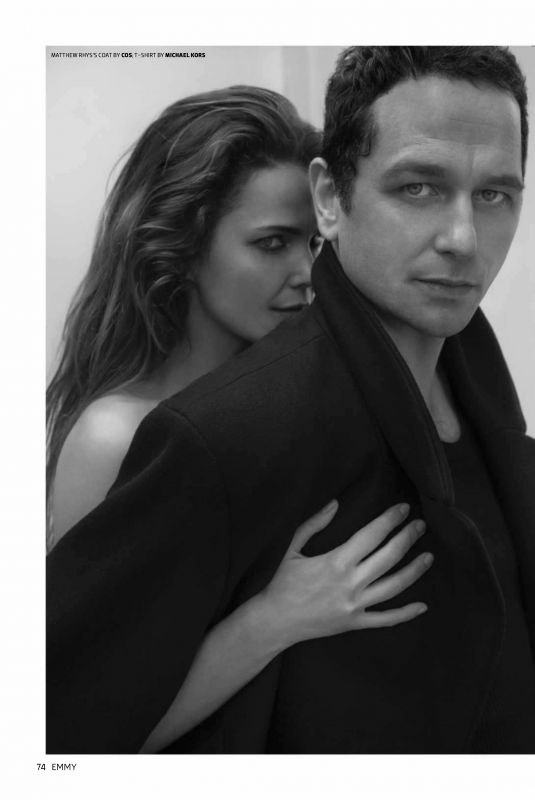 KERI RUSSELL and Matthew Rhys in Emmy Magazine, July 2018