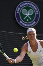 KIKI BERTENS at Wimbledon Tennis Championships in London 07/10/2018
