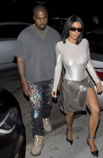 KIM KARDASHIAN and Kanye West Night Out in Los Angeles 07/29/2018