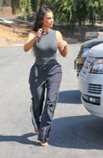 KIM KARDASHIAN Out in Los Angeles 07/17/2018