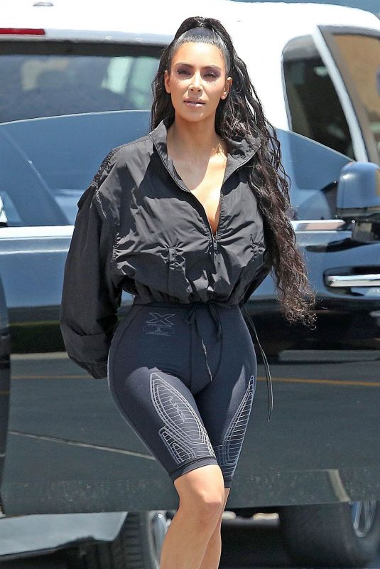 KIM KARDASHIAN Out in West Hollywood 07/19/2018