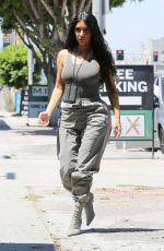 KIM, KOURTNEY and KHLOE KARDASHIAN at Art Studio in Los Angeles 07/23/2018