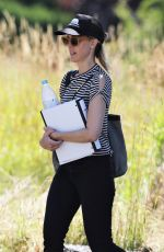 KIM RAVER on the Set of Tempting Fate in Vancouver 07/13/2018