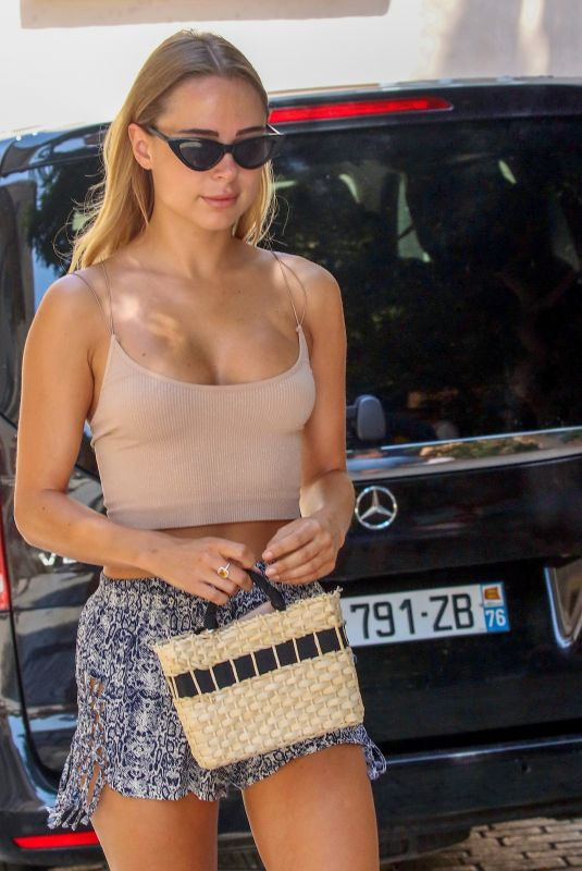 KIMBERLEY GARNER Out Shopping in Saint Tropez 07/19/2018