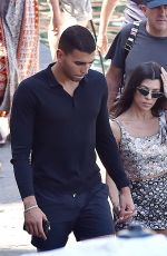 KOURTNEY KARDASHIAN and Younes Bendjima Out Shopping in Portofino 07/02/2018