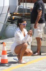 KOURTNEY KARDASHIAN Arrives by Boat in Portofino 07/07/2018