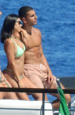 KOURTNEY KARDASHIAN in Bikini at a Boat in Portofino 06/30/2018