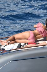 KOURTNEY KARDASHIAN in Bikini at a Boat in Portofino 07/08/2018