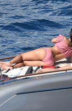 KOURTNEY KARDASHIAN in Bikini at a Boat in Portofino 07/08/2018