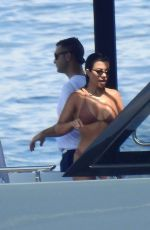 KOURTNEY KARDASHIAN in Bikini on a Yacht in Portofino 07/08/2018