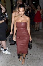 KOURTNEY KARDASHIAN Leaves Catch LA in West Hollywood 07/26/2018