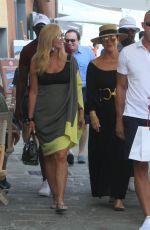 KRIS JENNER Leaves Restaurant in Portofino 07/09/2018