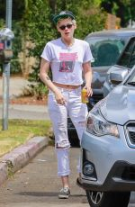 KRISTEN STEWART and STELLA MAXWELL Out in Los Feliz 07/21/2018