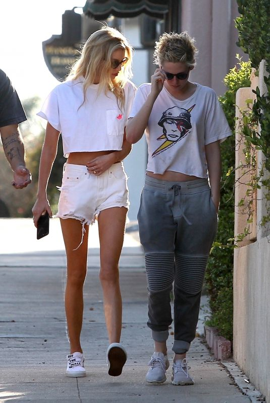KRISTEN STEWART and STELLA MAXWELL Out in West Hollywood 06/30/2018