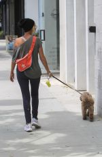 KRISTIN CHENOWEETH Out with Her Dog in Beverly Hills 07/09/2018
