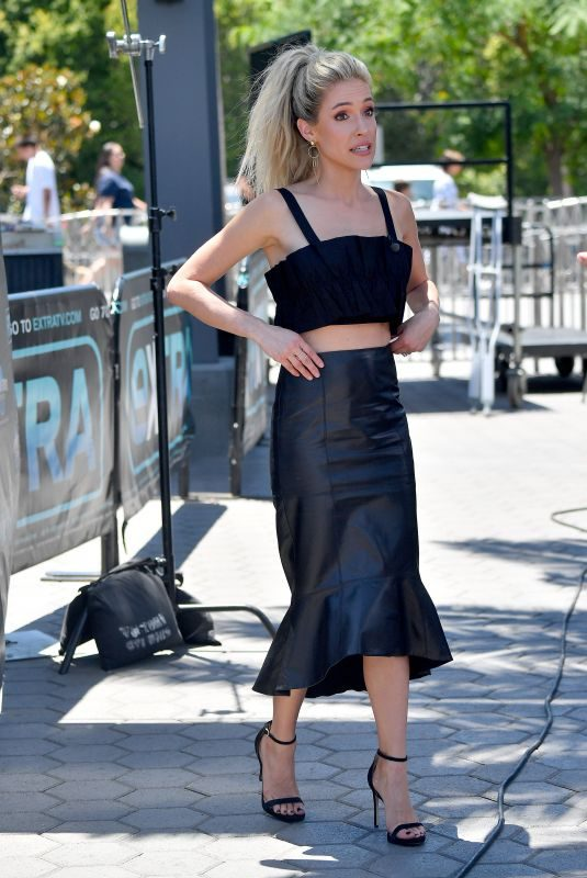 KRISTINA CAVALLARI on the Set of Extra in Los Angeles 07/20/2018