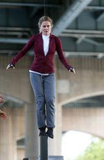 KRYSTEN RITTER and RACHEL TAYLOR Filming Jessica Jones Season 3 in Queens 07/05/2018