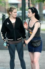 KRYSTEN RITTER and RACHEL TAYLOR Filming Jessica Jones Season 3 in Queens 07/05/2018