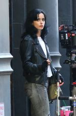 KRYSTEN RITTER on the Set of Jessica Jones in New York 07/05/2018