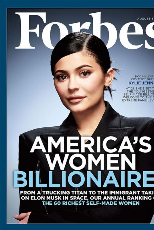 KYLIE JENNER in Forbes Magazine, August 2018 Issue