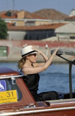 KYLIE MINOGUE at a Taxi Boat Ride in Venice 07/26/2018