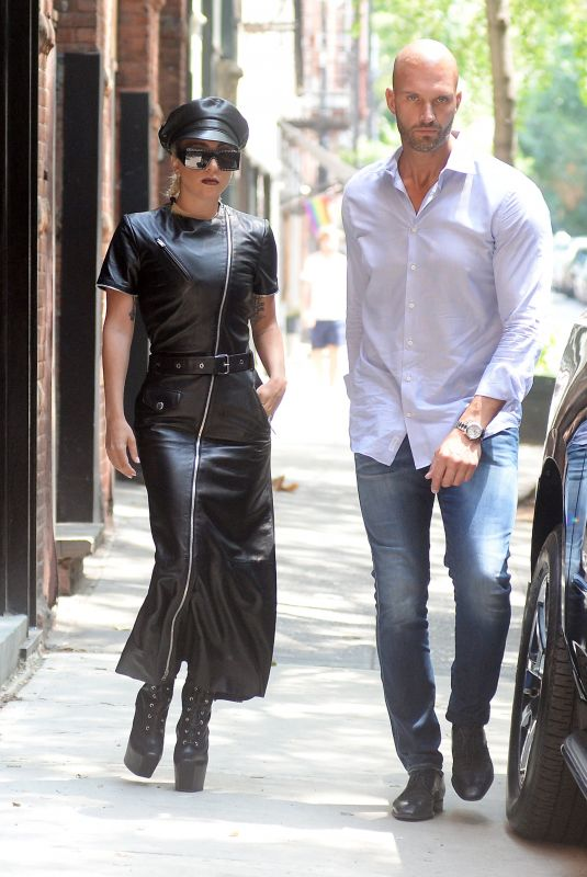LADY GAGA and Christian Carino Out in New York 07/11/2018