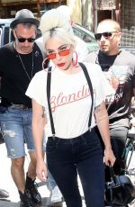 LADY GAGA Arrives at Electric Lady Studios in New York 06/29/2018