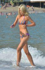 LADY VICTORIA HERVEY in Bikini at a Beach in Los Angeles 07/07/2018