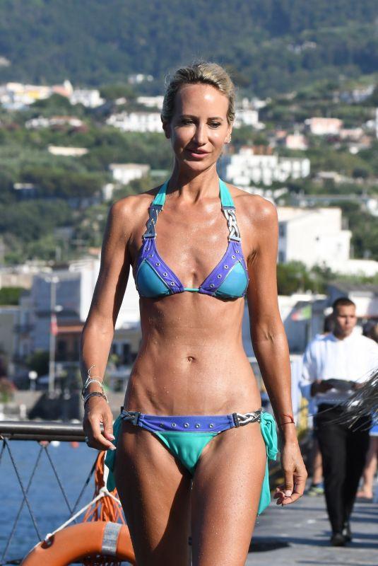 LADY VICTORIA HERVEY in Bikini at Hotel Regina Isabella in Ischia 07/21/2018