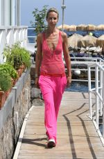 LADY VICTORIA HERVEY in Pink Bathing Suit at Albergo Della Regina Isabella Hotel in Ischia 07/21/2018