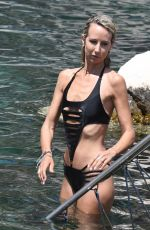 LADY VICTORIA HERVEY in Swimsuit in Hotel Regina Isabella in Ischia 07/19/2018