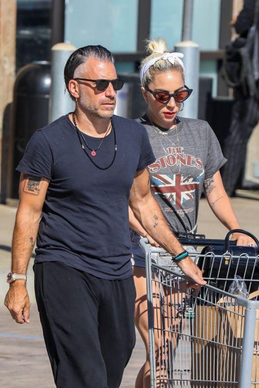 LADYD GAGA at Grocery Shopping in Malibu 07/14/2018